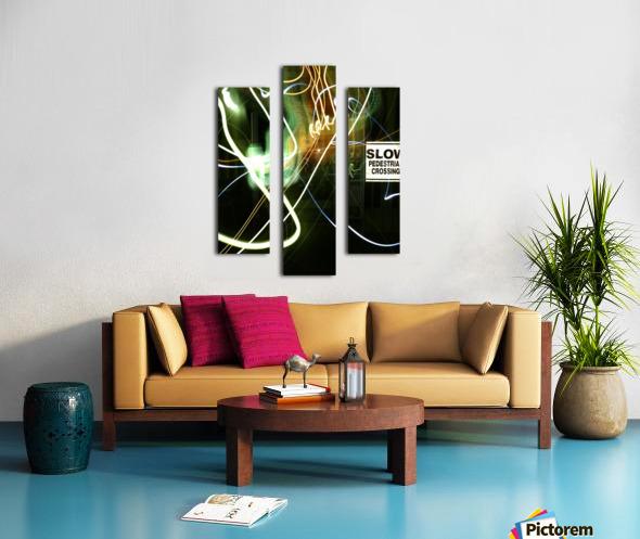 E (15) Canvas print