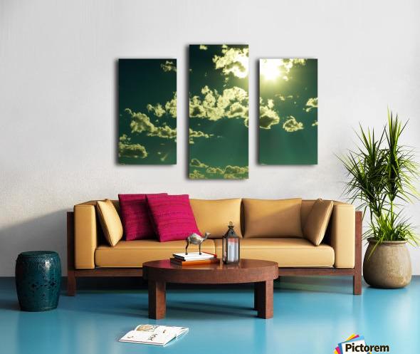 E (3) Canvas print