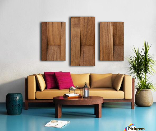 Brown Wood Surface Canvas print