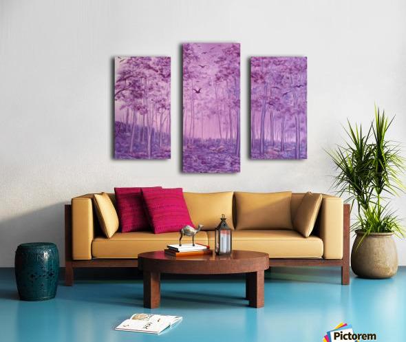 Purple Woods Canvas print
