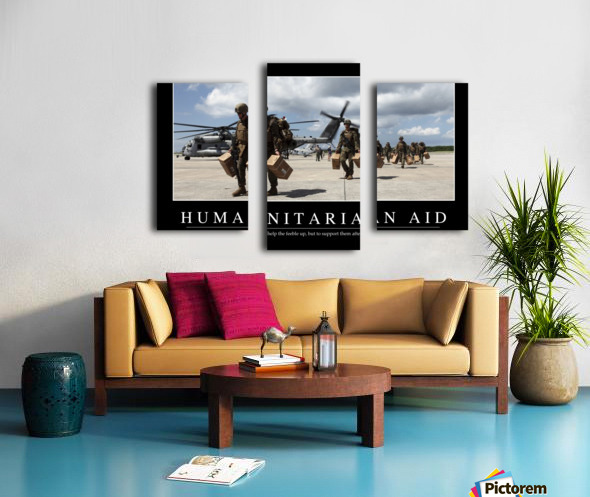 Humanitarian Aid: Inspirational Quote and Motivational Poster Canvas print