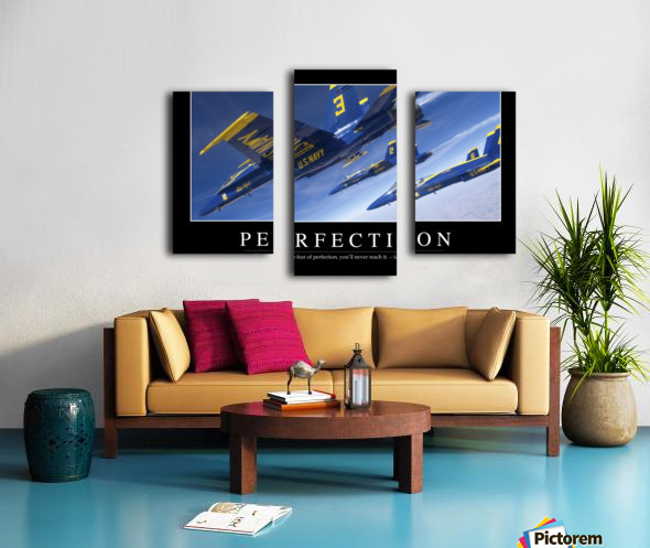 Perfection: Inspirational Quote and Motivational Poster Canvas print