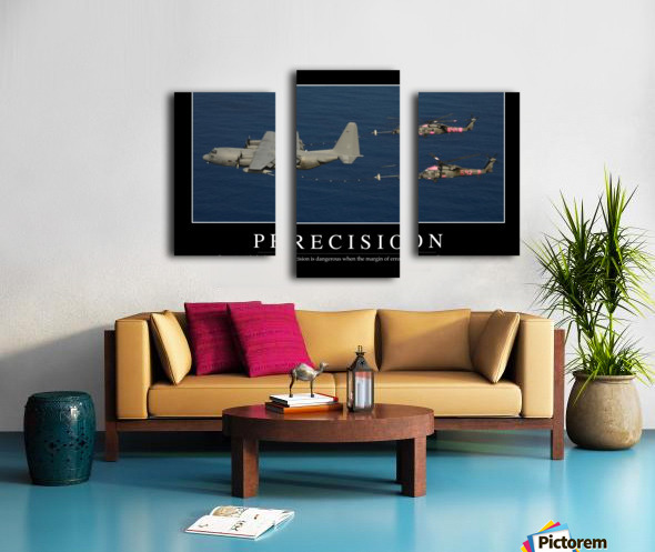 Precision: Inspirational Quote and Motivational Poster Canvas print