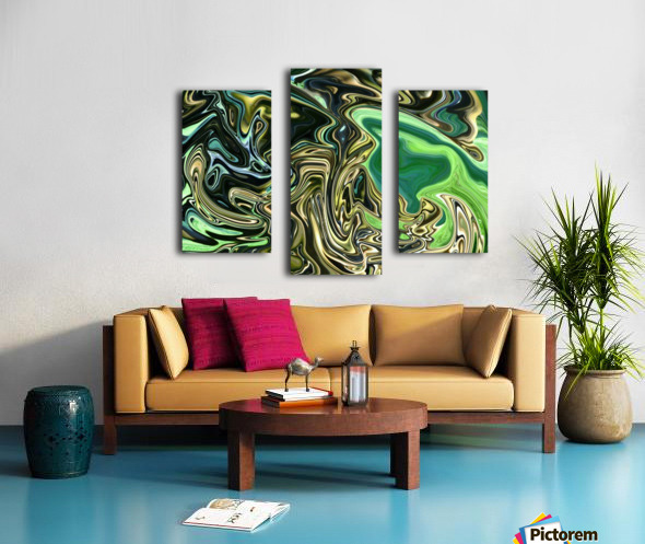green abstract art print katherine lindsey photography canvas