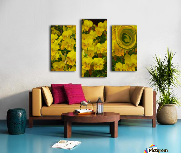 Yellow Abstract Floral Art Canvas print