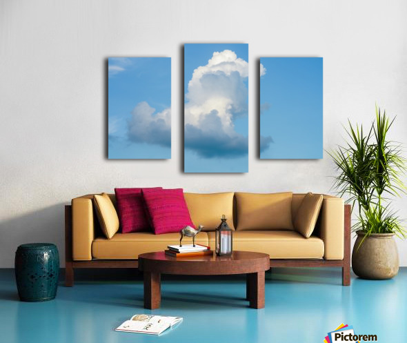 Cloud and blue sky Canvas print