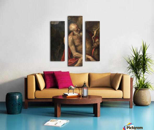 Saint Jerome meditating Canvas print