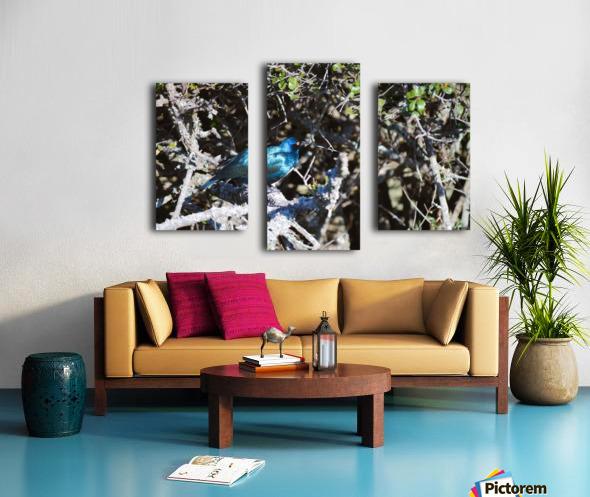 Blue Reflective Bird Canvas print