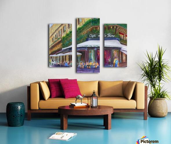 Cafe The Flore Paris Canvas print