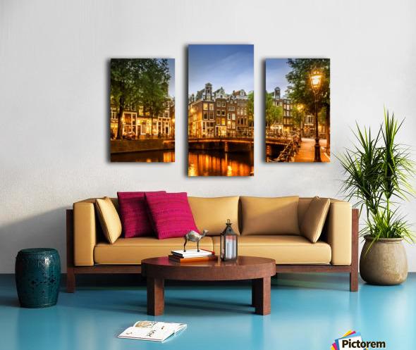 AMSTERDAM Idyllic impression from Singel Canvas print