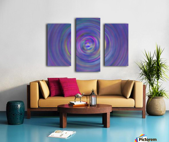 swirl color Canvas print