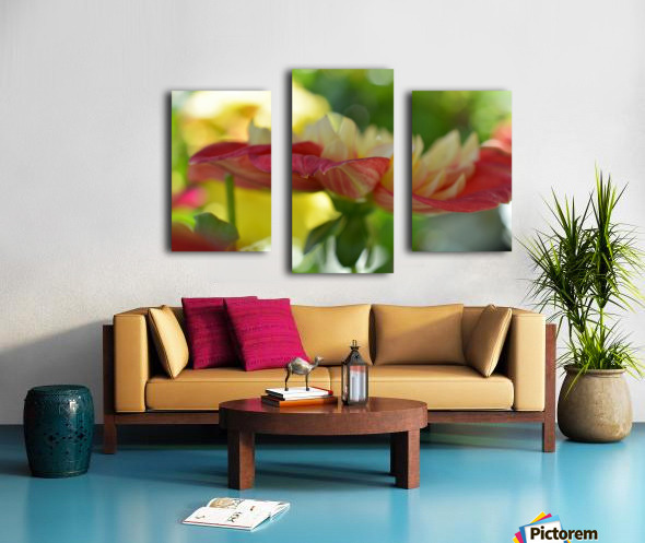 Garden Flowers Art Photograph Canvas print