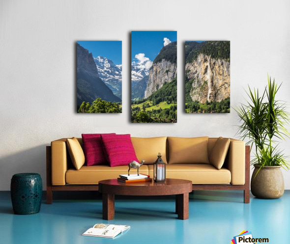 Valley of Waterfalls Canvas print