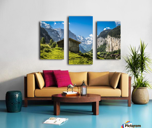 Hut in the valley Canvas print