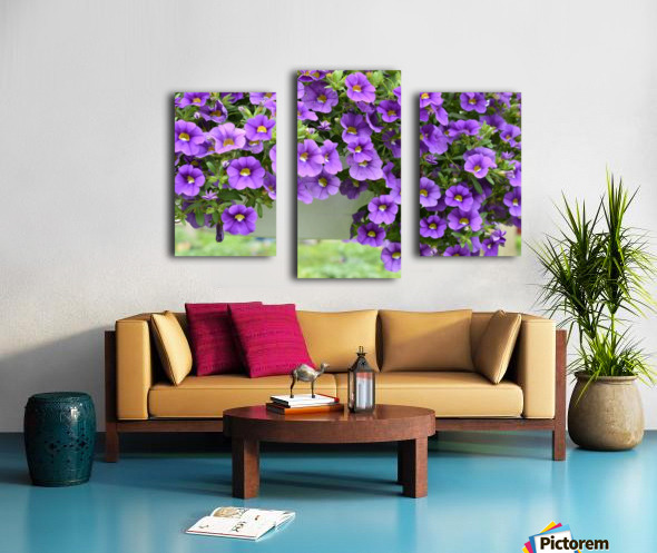 Beautiful Purple Flowers Photograph Canvas print