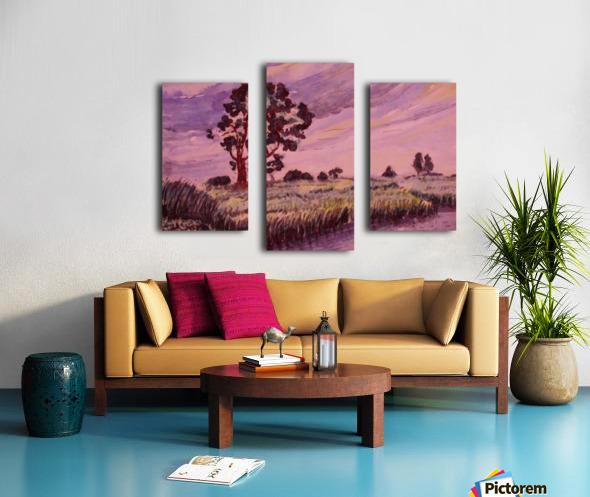 Evening Landscape 2 Canvas print