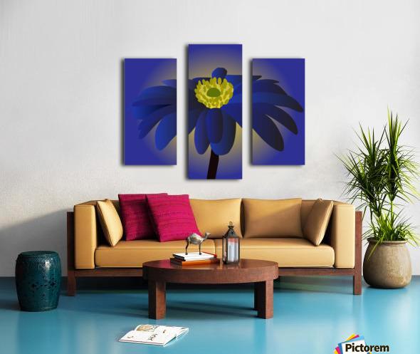 Anemone Blanda Flower Art Canvas print