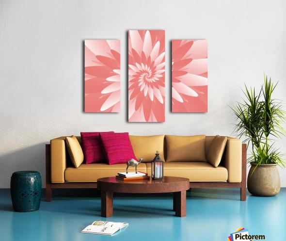 Spiral Flower Pattern Art Canvas print