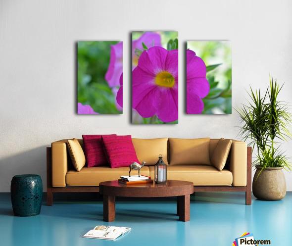 Purple Flower Photograph Canvas print