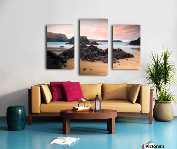 Surreal Stormy Beach Scene Canvas print