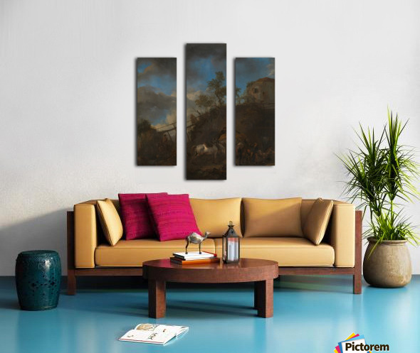 De hoefsmid Canvas print