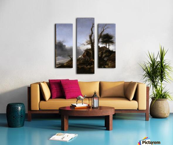Halt of Travellers Canvas print