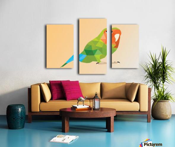 Parrot LOW POLY ART  Canvas print