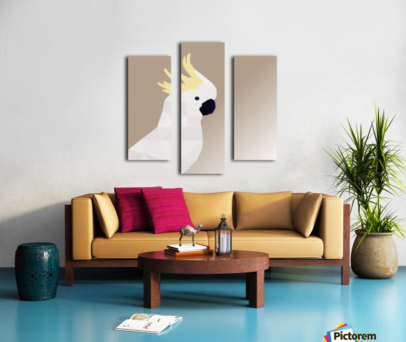 COCKATOO BIRD LOW POLY ART Canvas print