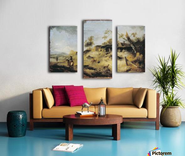 Sandbank with Travellers Canvas print
