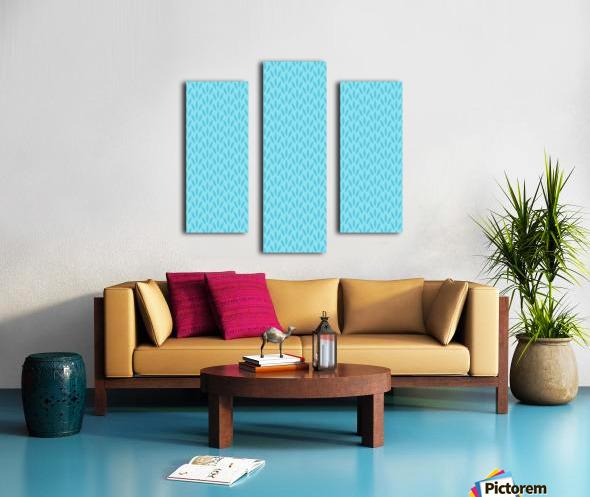 Blue Leaf pattern Art Canvas print