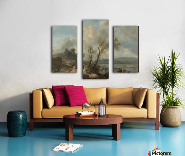 Landschap met zandweg Canvas print