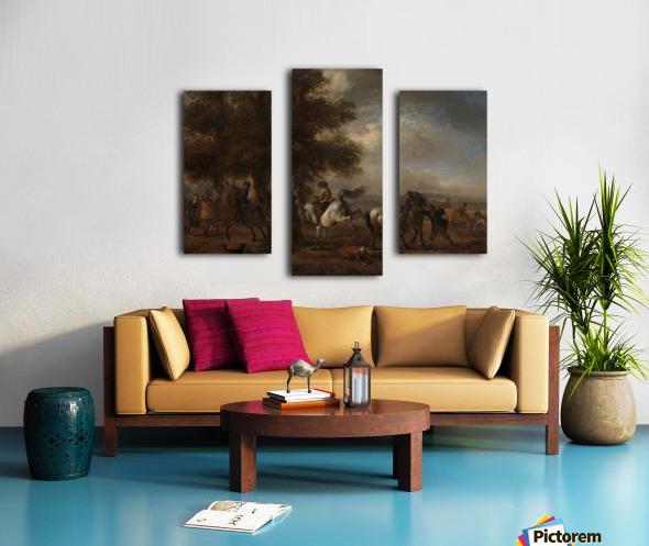 De slaande schimmel Canvas print
