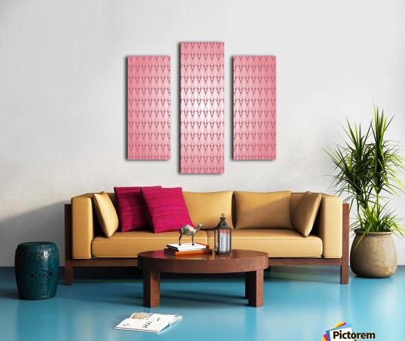 Arabic Pink Art Canvas print