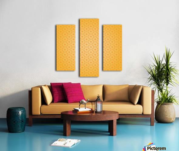 Orange Seamless Pattern Art Canvas print