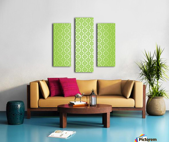 Islamic Green Art Canvas print