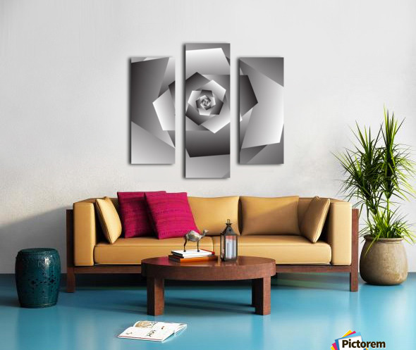 Monochrome Rose Art Canvas print
