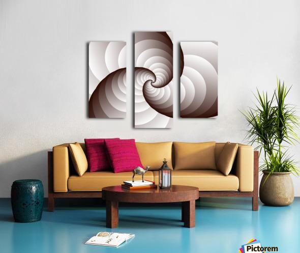 Spirally Canvas print