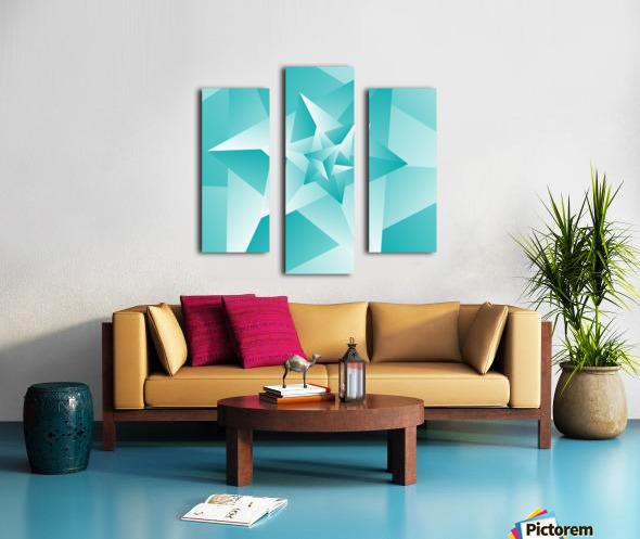 Bluish Trendy Triangle Art Canvas print