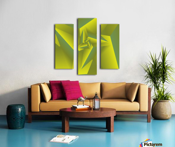 3D Triangle Pattern Art Canvas print