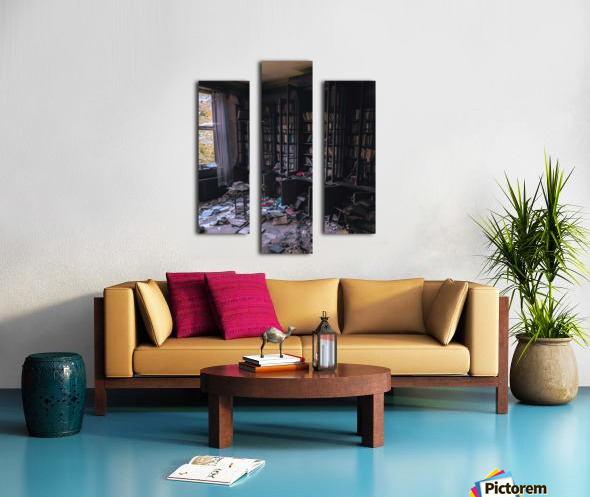 Abandoned Mansion Library Canvas print