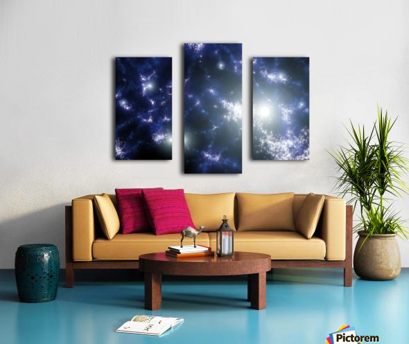 Population III stars clustered together into what will later become galaxies. Canvas print
