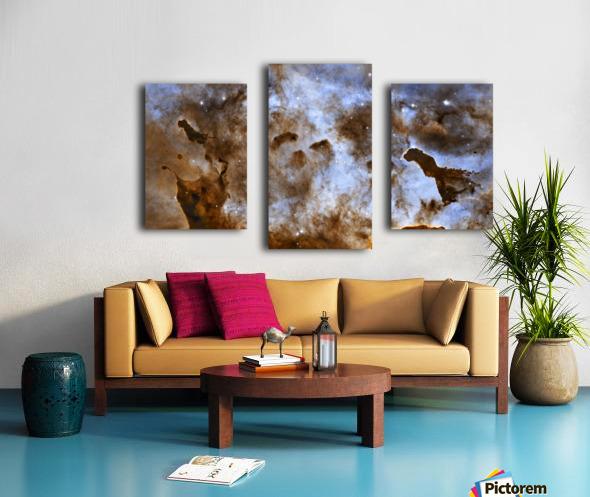 Carina Nebula Star-Forming Pillars. Canvas print