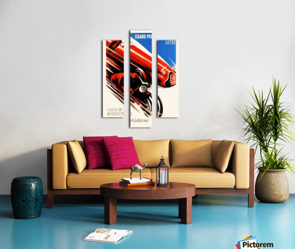 Berne Grand Prix d'Europe Autos 1948 Canvas print