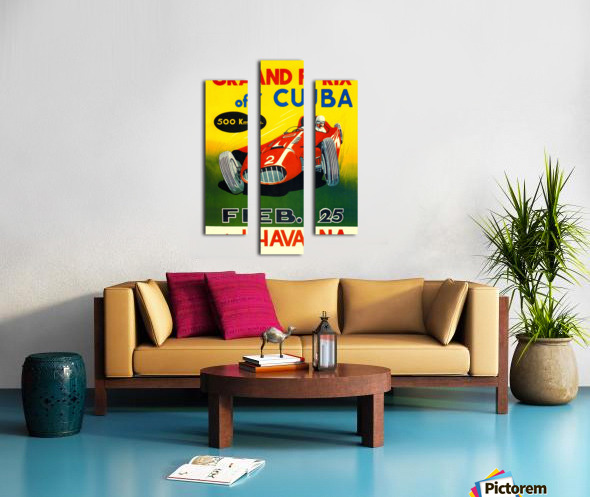 Cuba Grand Prix Havana 1958 Canvas print