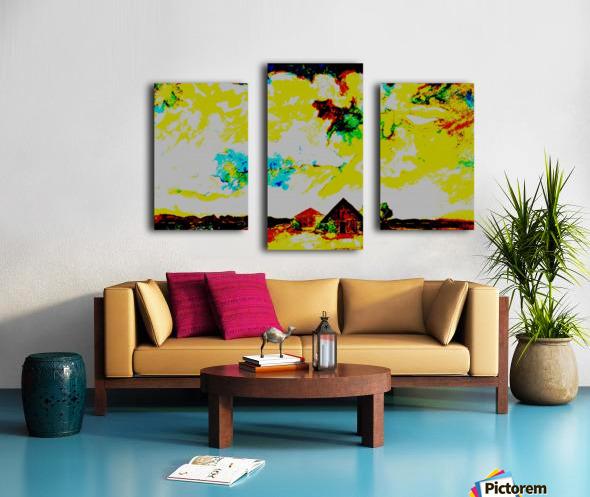 Evening landscape 4 Canvas print