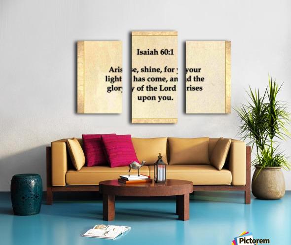 Isaiah 60 1 Canvas print