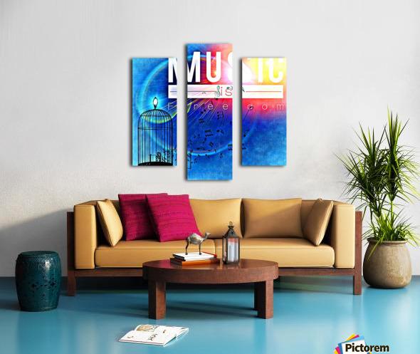 Music_OSG Canvas print