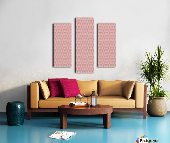 ORANGE Triangle Shape Seamless Pattern Background    Canvas print