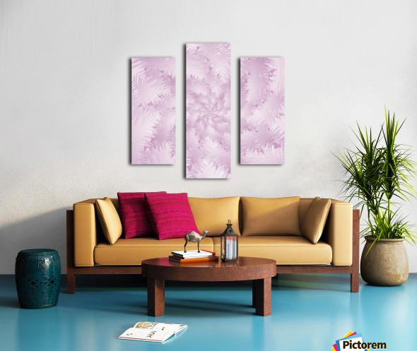 Pink Snowflakes Forest Canvas print