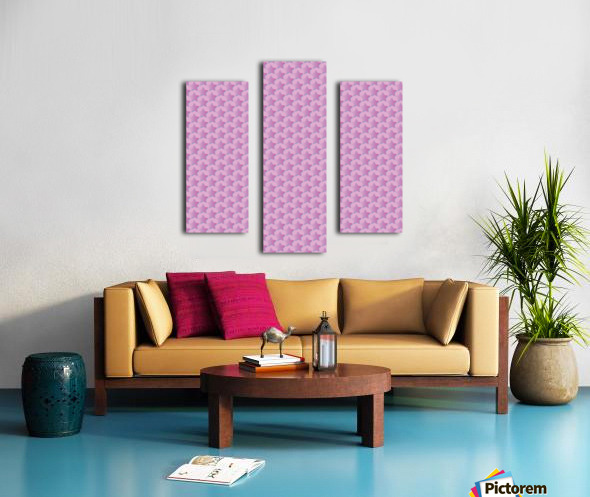 Pink Star Pattern Canvas print